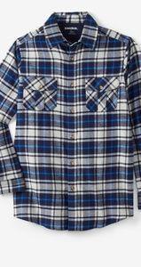 Mens Navy blue, Plaid, button down XL Shirt.